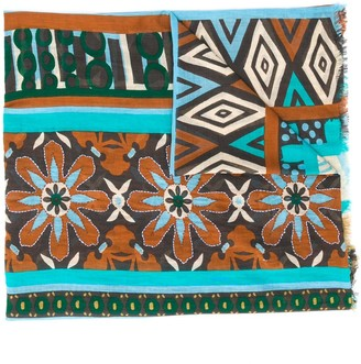 Altea Mixed-Print Scarf