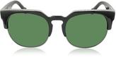 Balenciaga BA0021 01B Black Acetate & Gold Metal Women's Sunglasses