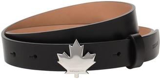 DSQUARED2 2.5cm Leaf Buckle Leather Belt