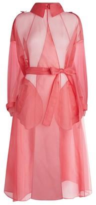 Dolce & Gabbana Sheer Silk Trench Coat