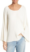 Elizabeth and James Women's Regan Pleated Bell Sleeve Top