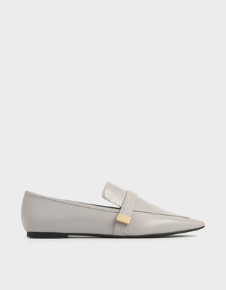 Charles & Keith Metal Accent Loafers