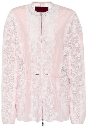 Moncler Lace-panelled jacket