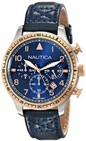 Nautica Men's NAD17500G BFD 105 Chrono Analog Display Japanese Quartz Blue Watch