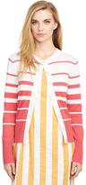 Brooks Brothers Cotton Stripe Cardigan