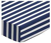 Stokke SheetWorld Fitted Oval Crib Sheet Sleepi) - Primary Navy Stripe Woven - Made In USA - 26 inches x 47 inches (66 cm x 119.4 cm)