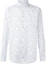 Xacus navy floral print shirt