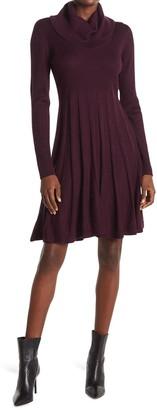 Calvin Klein Cowl Neck A-Line Sweater Dress