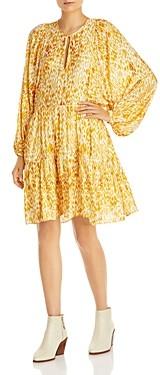 Anine Bing Madison Printed Tiered Dress