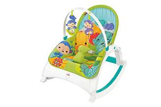 Fisher-Price DMR88 Rainforest Friends Newborn-to-Toddler Rocker, New-Born Baby Bouncer and Can be Used as a Baby Chair, Suitable from Birth