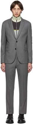 Neil Barrett Grey Slim Regular Suit