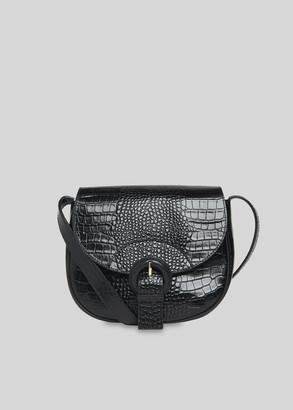 Leon Croc Saddle Bag