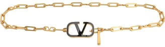 Valentino Go Logo Chain & Leather Belt