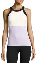 Beyond Yoga x kate spade new york blocked band racer tank, lilac charm