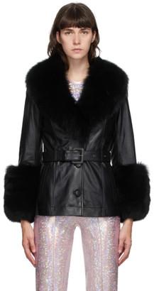 Saks Potts Black Fur Shorty Jacket