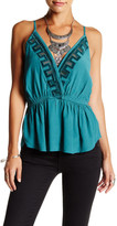Free People City Streets Plunging Gauze Cami