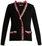 Alexander McQueen Crochet-trimmed V-neck cashmere cardigan