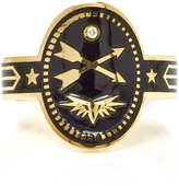 Foundrae Crossed Arrows Cigar Band in Black