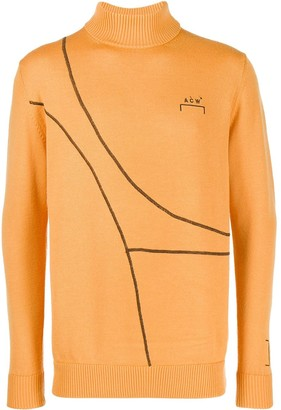 A-Cold-Wall* Curved Piping Turtleneck Jumper