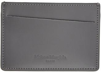 Maison Margiela Black and Grey Leather Card Holder