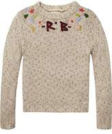 Scotch & Soda R'Belle Girl's Embroidered Crew Neck Pullover Jumper