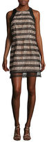 Carmen Marc Valvo Lace Overlay Shift Dress