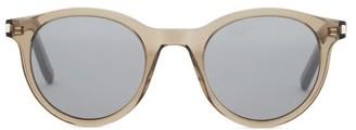 Saint Laurent Round Acetate Sunglasses - Beige