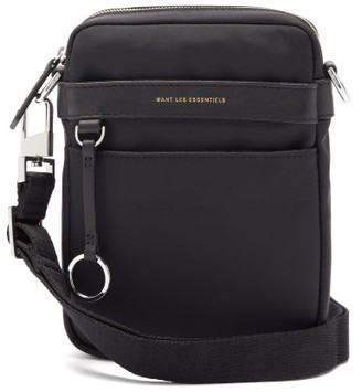 WANT Les Essentiels Reagan Leather-trimmed Cross-body Bag - Black