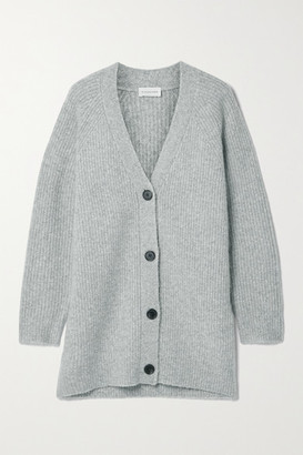 By Malene Birger Canna Merino Wool-blend Cardigan - Gray