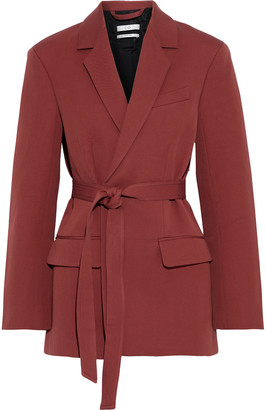 Co Belted Cotton And Wool-blend Twill Blazer