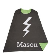 Green & Black Bolt Double-Sided Cape