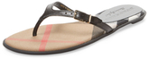 Burberry Meadow Leather Thong Sandal