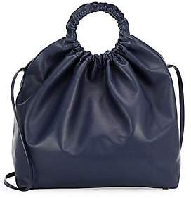 The Row Women's XL Double Circle Leather Hobo Bag
