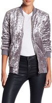 Romeo & Juliet Couture Crushed Velvet Bomber Jacket