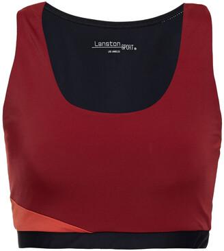 Lanston Color-block Stretch Sports Bra