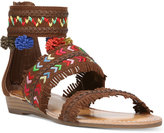 Carlos by Carlos Santana Tangier Three-Piece Pom-Pom Sandals