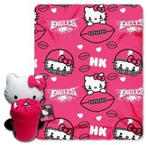 Hello Kitty NFL Eagle Blanket and Hugger Bundle (40 x 50)