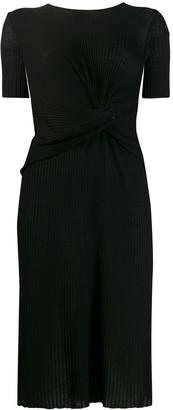 Alberta Ferretti twist plisse midi dress