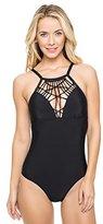 Athena Women's Cabana Solid One-Piece Swimsuit
