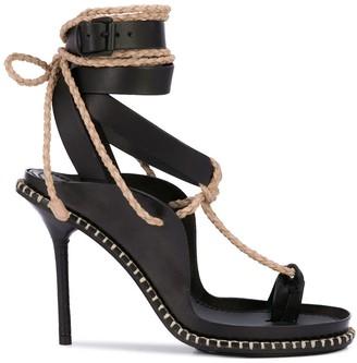 Ann Demeulemeester Rope Detail Heeled Sandals