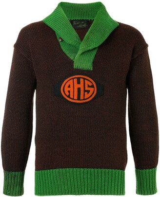Fake Alpha Vintage 1920s School Sweater