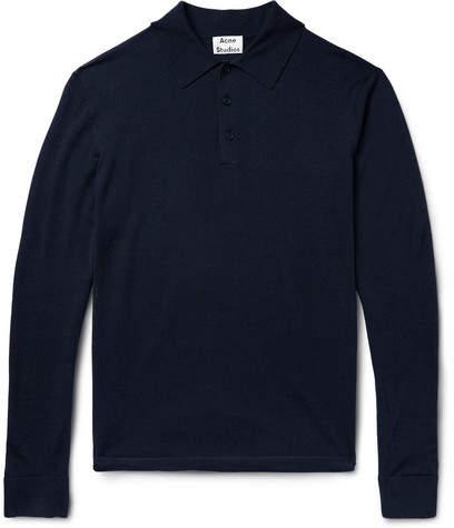 Acne Studios Nadir Knitted Wool Polo Shirt
