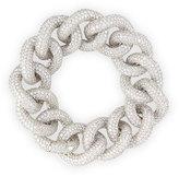 Leo Pizzo 18k White Gold Diamond Chain Link Bracelet