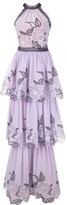 Marchesa embroidered sleeveless dress