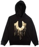 True Religion Boys' Gold Dripping Horseshoe Hoodie