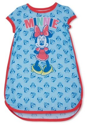 Minnie Mouse Disney Girls Exclusive Short Sleeve Pajama Nightgown, Sizes 4-12