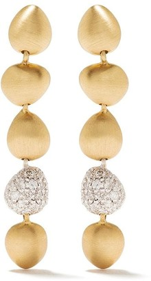 Brumani 18kt rose and white gold Corcovado diamond drop earrings