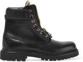 Balmain Leather Combat Boots - Black