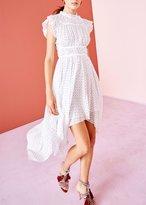 Ulla Johnson Jules Dot Print Dress Porcelain