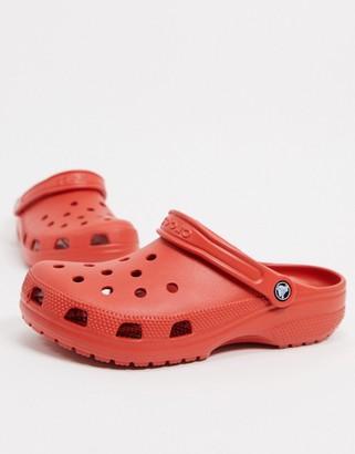Crocs originals clogs in terracotta red